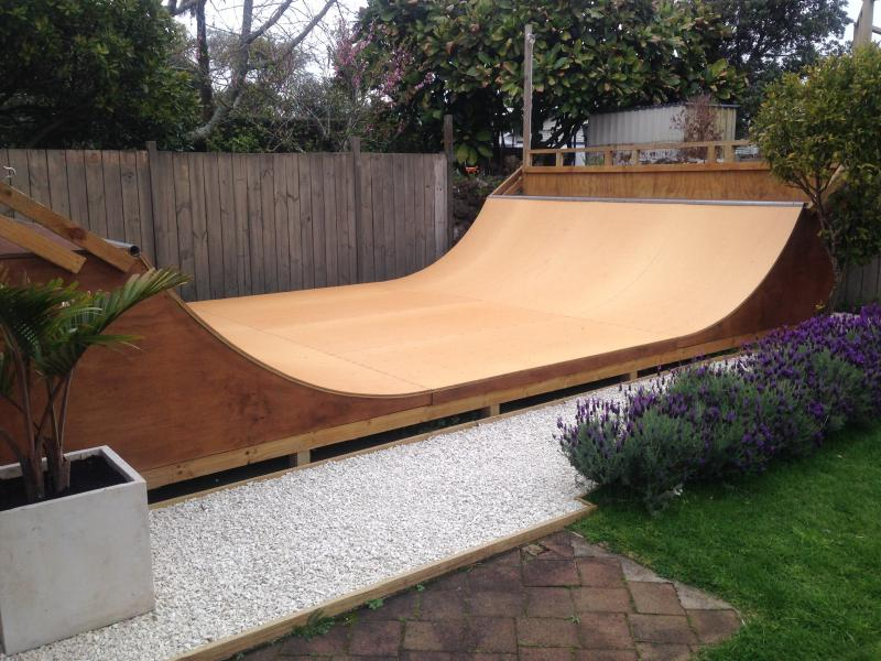 fully treated halfpipe including skatelite surface basic handrails and